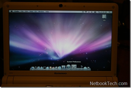 Lenovo IdeaPad S10 running Mac OS X.
