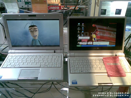 Asus Eee PC 900 compared to the 701