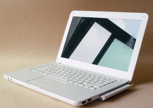 White MacBook clone.